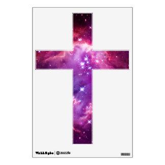 Purple Tinted Galactic Cross Wall Decal