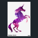 """Purple Tinted Galactic Unicorn Wall Sticker<br><div class=""""desc"""">Purple and pink re-colored digital space art featuring a detail from the galaxy called the Small Magellanic Cloud.</div>"""