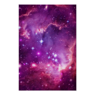 Purple Tinted Small Magellanic Cloud Poster