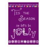 Purple Tis the Season Holiday Party Invitation
