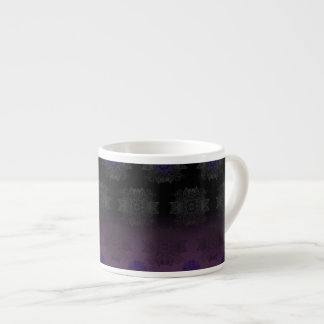 Purple to Black Fade Mehndi Espresso Cup