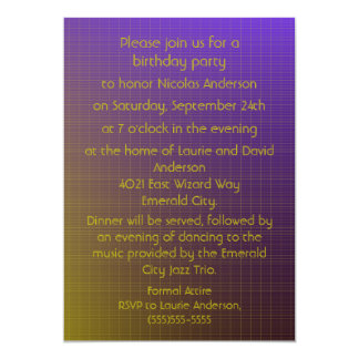 Purple to Gold Pattern - Birthday Party Card