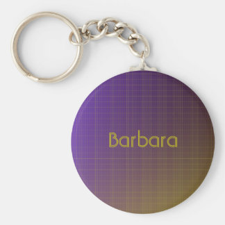 Purple to Gold Pattern Keychain