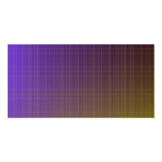Purple to Gold Pattern Customized Photo Card