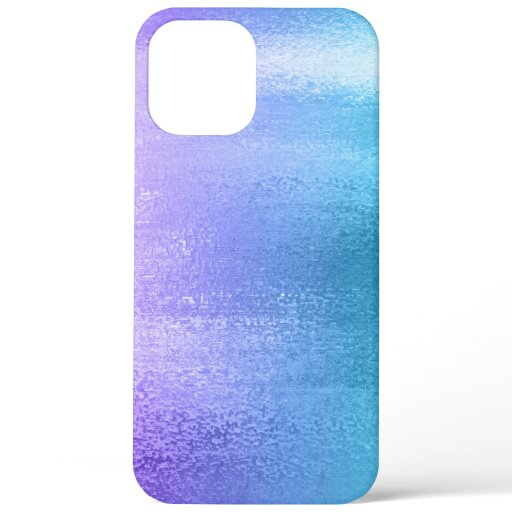 Purple to teal ombre shiny background iPhone 12 pro max case