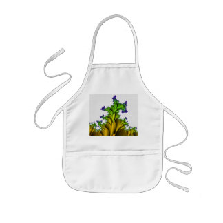 Purple to Yellow Fractal Garden Kids' Apron
