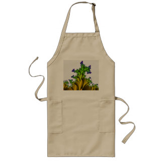 Purple to Yellow Fractal Garden Long Apron