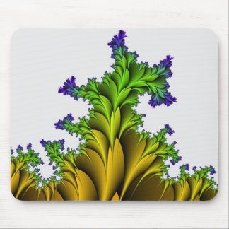 Purple to Yellow Fractal Garden Mouse Pad