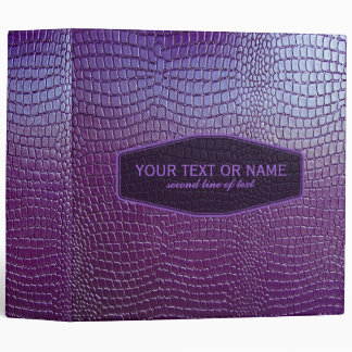Purple Tone Snake Skin Faux Leather Look 3 Ring Binder