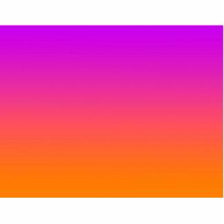 purple top orange bottom gradient background photo sculpture