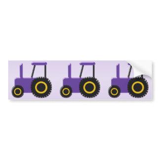 Purple Tractor Bumper Sticker