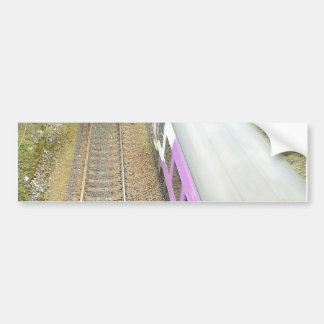 Purple Train, Railway Tracks, Tunnel, Traveling Car Bumper Sticker