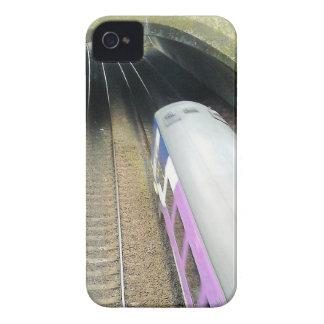 Purple Train, Railway Tracks, Tunnel, Traveling Case-Mate iPhone 4 Case