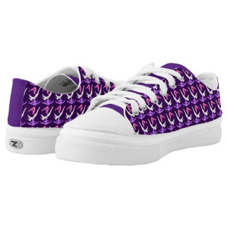 Purple Trampoline Gymnast Low-Top Sneakers