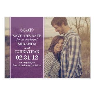 Purple Transparent Photo Save The Date Invites