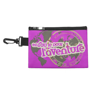 Purple travel en route clip on accessory bag