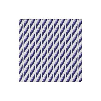 Purple Treads Design Stone Magnet