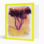 Purple Tree 3 Ring Binder