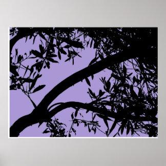 Purple Tree Branch Print