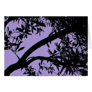 Purple Tree Card