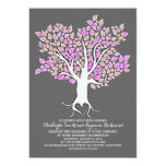 "Purple tree elegant modern wedding invitations 5"" x 7"" invitation card"