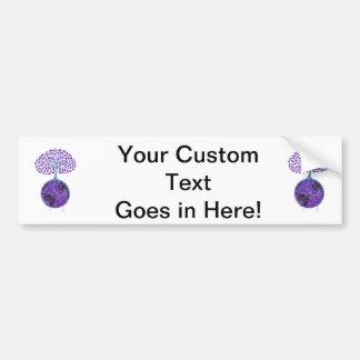 purple tree globe crayon design.png bumper sticker