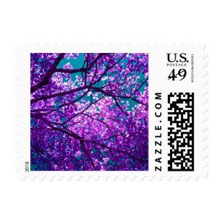 Purple tree II Stamp