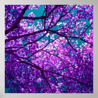 Purple tree II Print