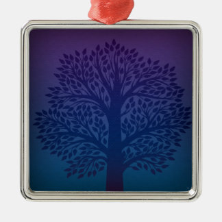 Purple Tree Metal Ornament