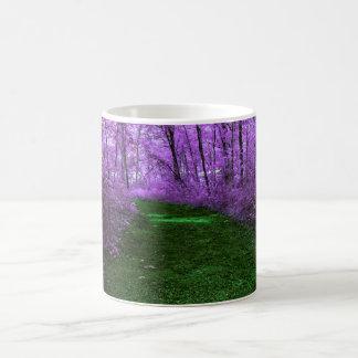 Purple Tree Mystic Woods and Emerald Green Path Coffee Mug