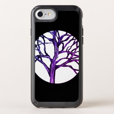Halloween Themed Purple Tree Nature Gothic Goth Nature Witch Moon Speck iPhone Case