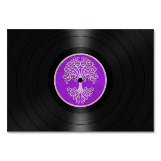 Purple Tree of Life Vinyl Record Graphic Card