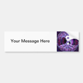 Purple Tree of Life with Yin Yang Bumper Sticker