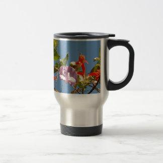 Purple Tree Orchid and Orange Flowers 15 Oz Stainless Steel Travel Mug