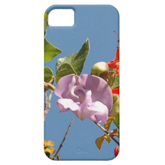 Purple Tree Orchid and Orange Flowers iPhone SE/5/5s Case