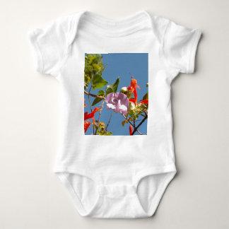 Purple Tree Orchid and Orange Flowers Shirt