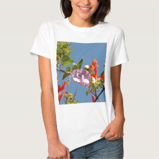 Purple Tree Orchid and Orange Flowers Tee Shirt