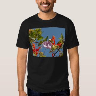 Purple Tree Orchid and Orange Flowers Tshirt