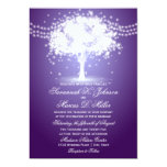 Purple Tree String Lights Wedding Invitations at Zazzle