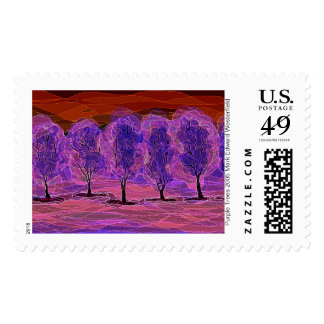 Purple Trees 2005 Mark Edward Westerfield Postage