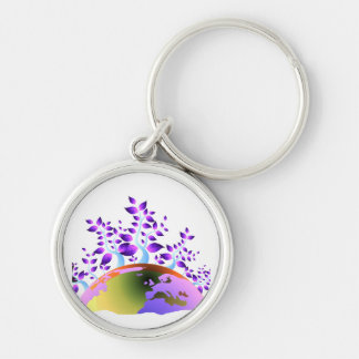 purple trees coming out invert globe.png keychain