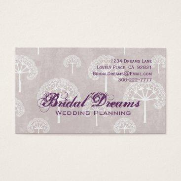 Professional Business Purple Trees Customizable Business Card