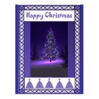 Purple trees postcard