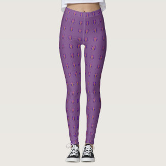 Purple Trendy Floral Classic  edgy comfortable fit Leggings