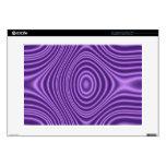 """purple trendy pattern 15"""" laptop skin"""