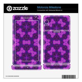 Purple trendy Pattern Motorola Milestone Skins