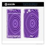 purple trendy pattern xperia arc skin