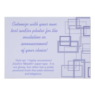 Purple Trendy Squares Invitation