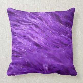 Purple Tresses Throw Pillow