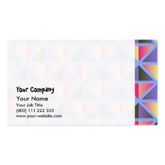 Purple triangles business card